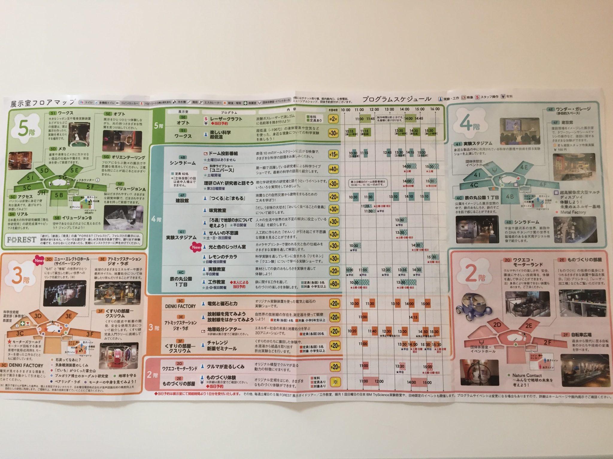 東京 科学技術館フロアマップ