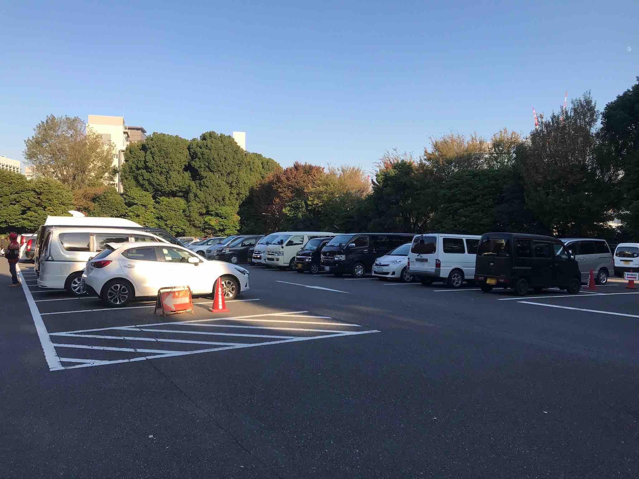 科学技術館駐車場